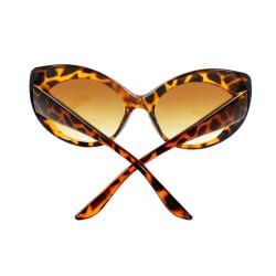 Women's Brown Leopard Cat Eye Sunglasses