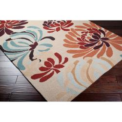 Hand-tufted Beige Sage Wool Rug (3'3 x 5'3)