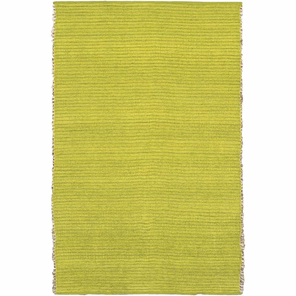 "Handwoven Mandara Green Jute/Chenille Rug (5' x 7'6"")"
