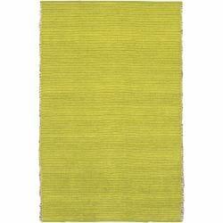 Handwoven Mandara Green Jute/Chenille Rug (5' x 7'6