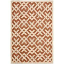 Poolside Terracotta/Bone Indoor/Outdoor Area Rug (9' x 12')