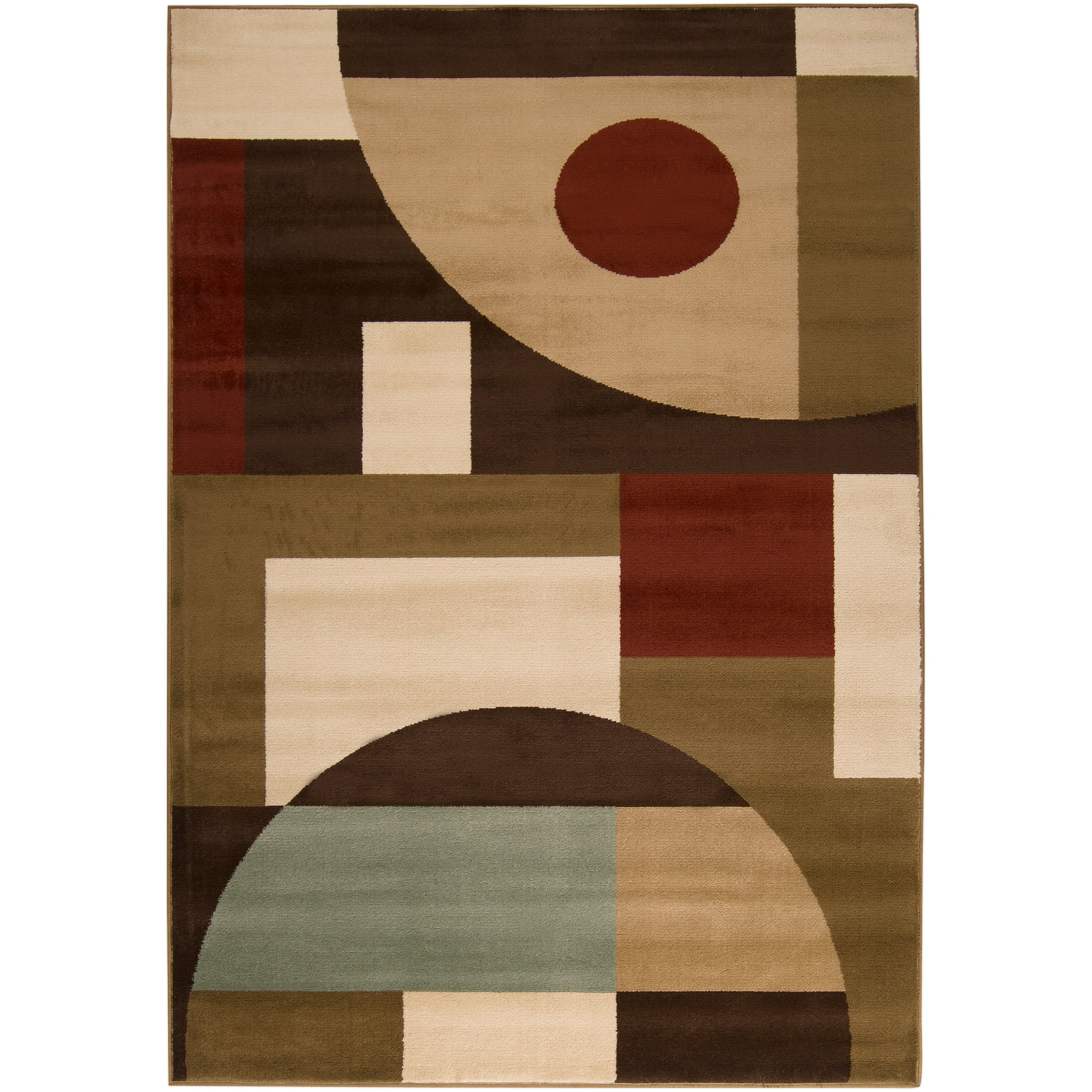 Woven Brown Stella Smith Geometric Shapes Rug (7'9 x 11'2)