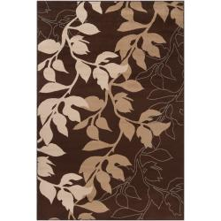 Woven Brown Frieze Rug (7'9 x 11'2)