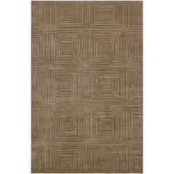 Candice Olson Hand-knotted Green Aviato Geometric Wool Rug (4' x 6')