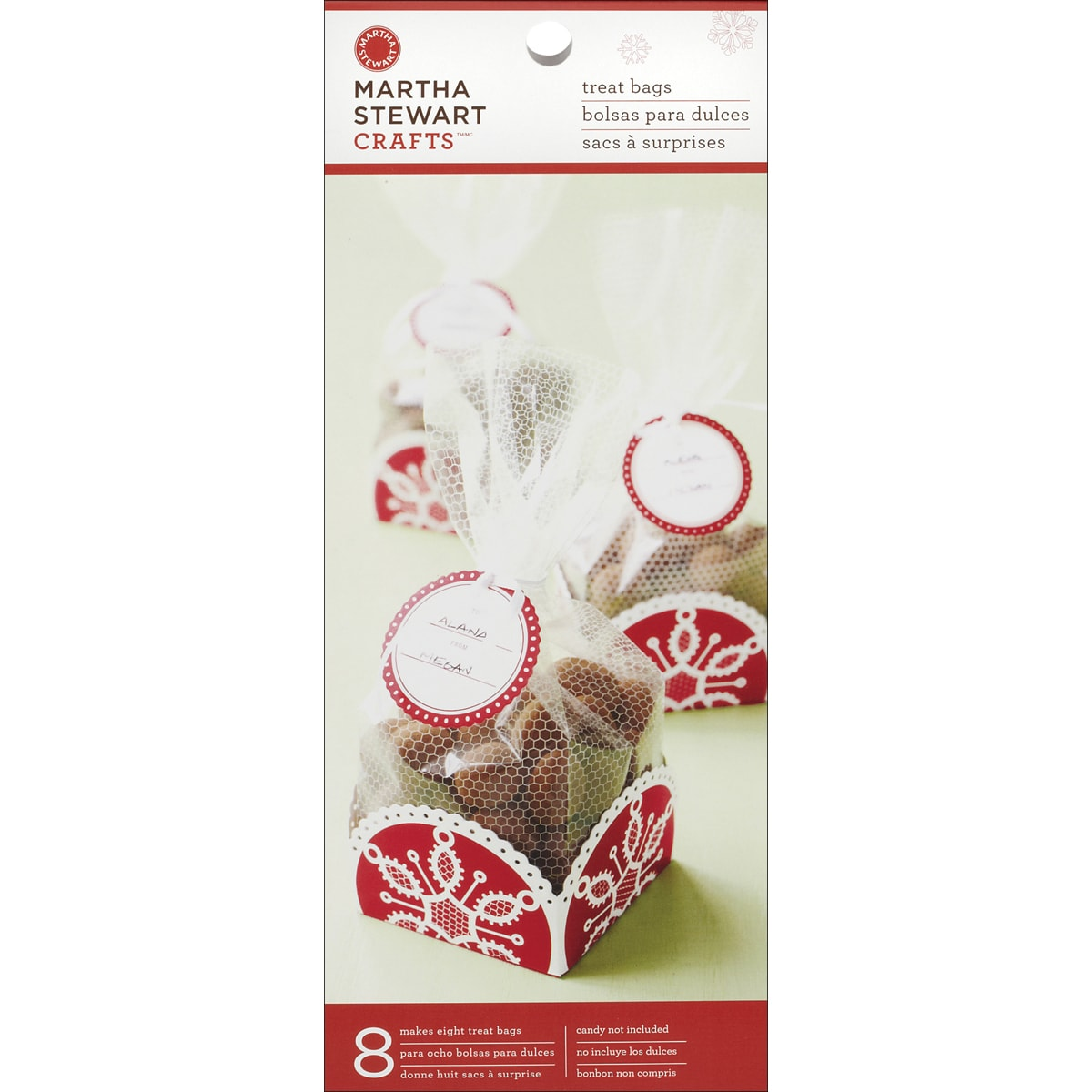 Martha Stewart Cello and Tray Bags (Pack of 8)