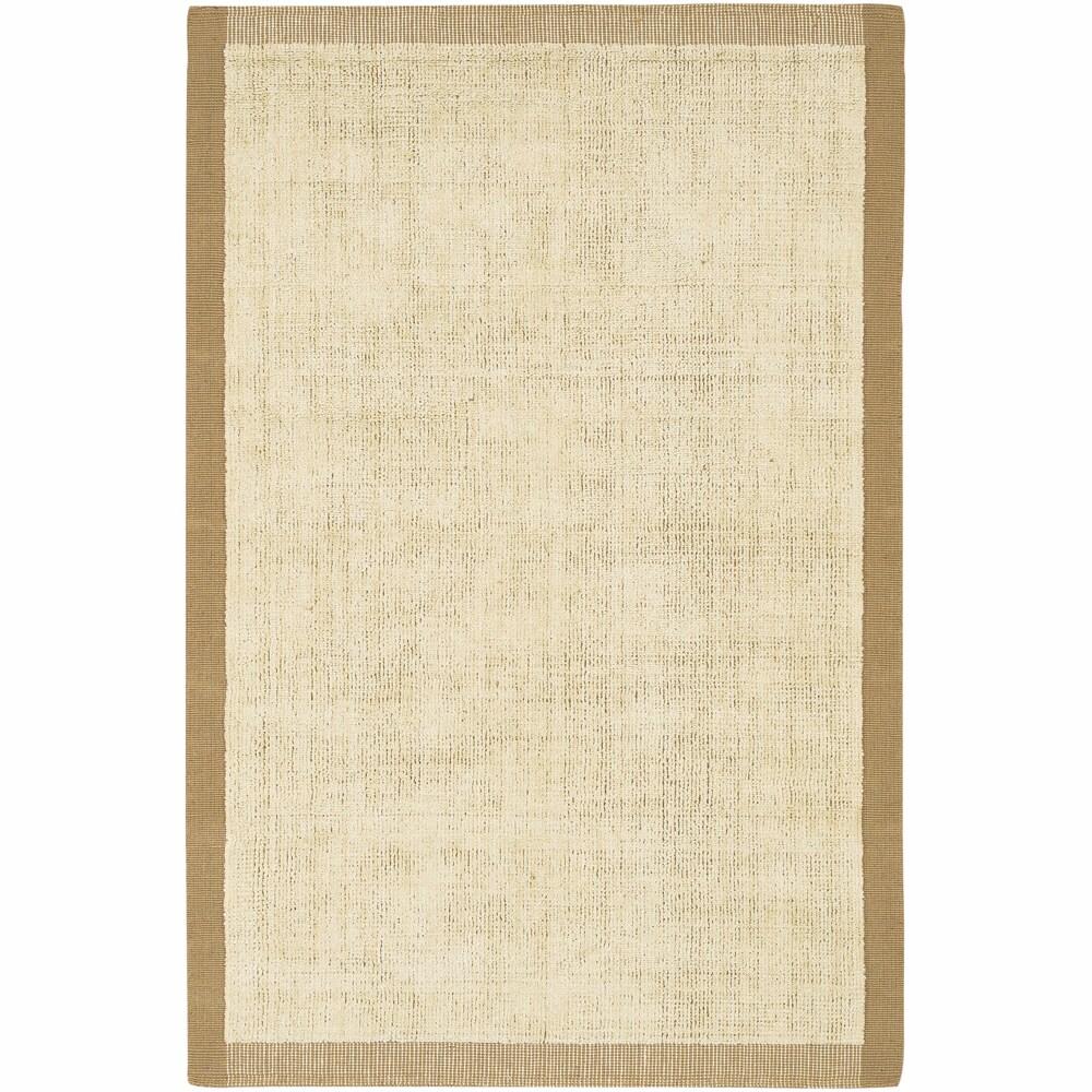 Handwoven Mandara Tan Jute Rug (5' x 7'6)