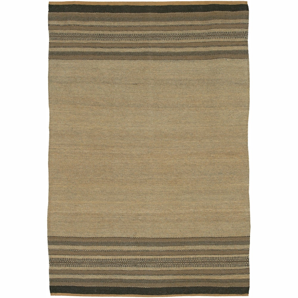 Hand-woven Mandara Stripes Rug (2' x 3')