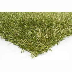 Handwoven Mandara Green Contemporary Shag Rug (7'9 x 10'6)