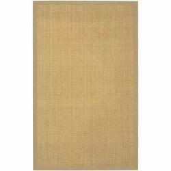 Hand-Woven Mandara Beige Border Rug (9' x 13')