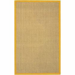 Hand-woven Mandara Orange Border Rug (2' x 3')