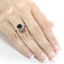 14k Rose Gold 3 5/8ct TDW Certified Black Diamond Ring (H-I, I1-I2)