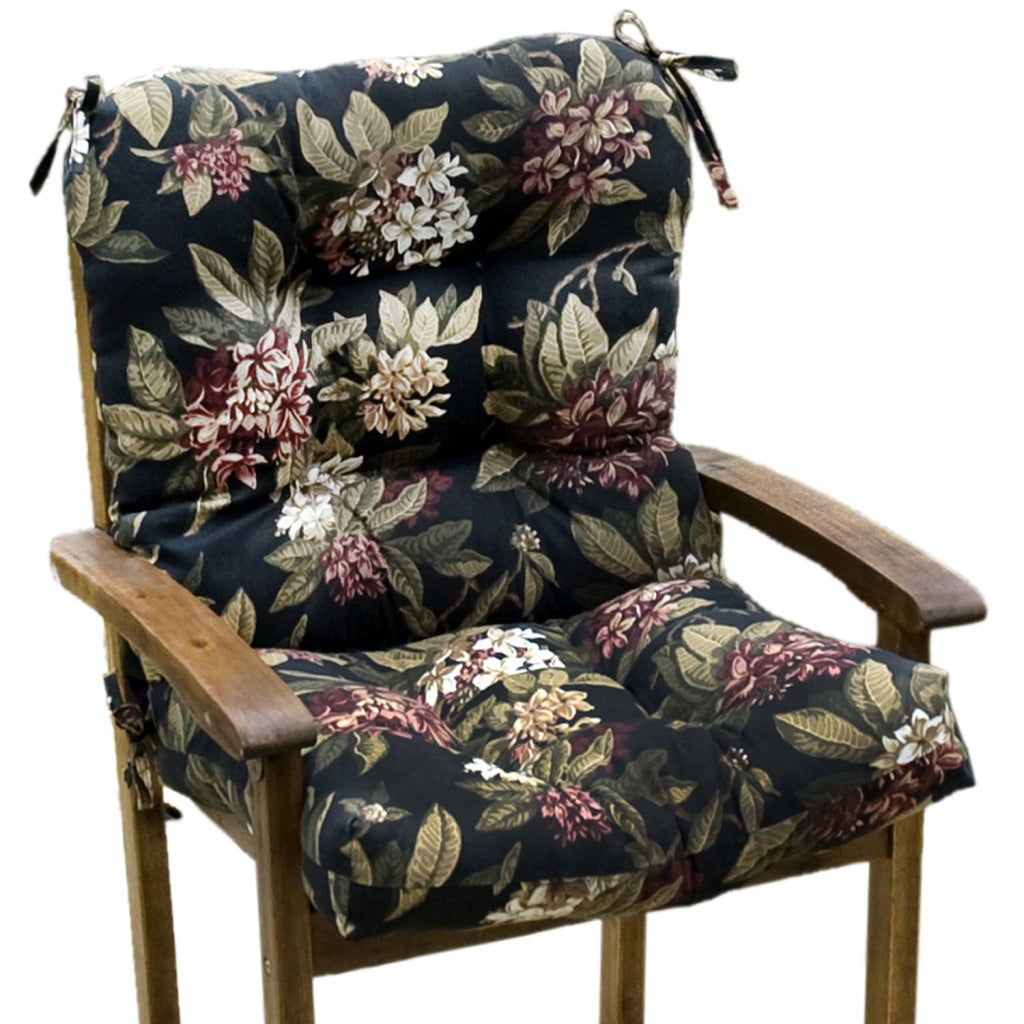 Outdoor 'Moonflower' Seat/ Back Combo Cushion