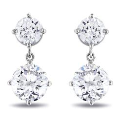 Miadora 18k White Gold 2 1/10ct TDW Diamond Earrings (G-H, I1-I2)
