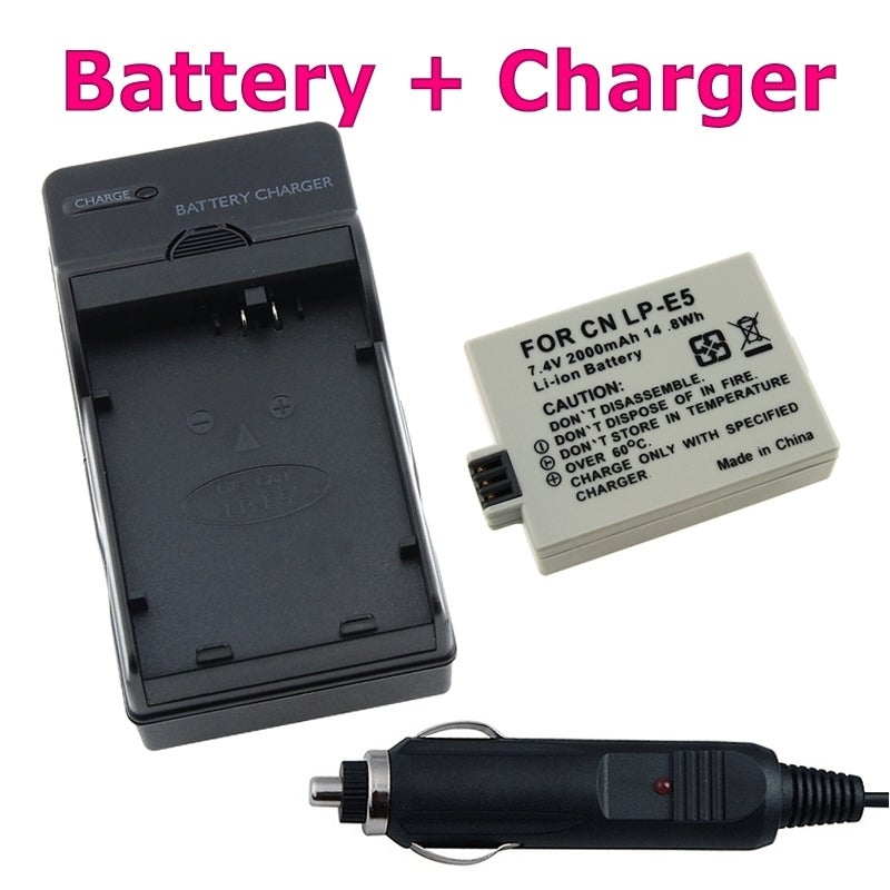 BasAcc Canon EOS Rebel Camera Battery and Charger