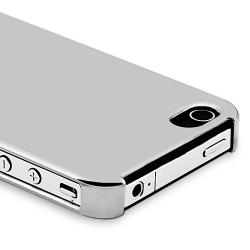 BasAcc Chrome Silver Rear Slim Case for Apple iPhone 4 AT&T/ Verizon