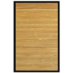 Namaste Bamboo Rug with Black Border (7' x 10')