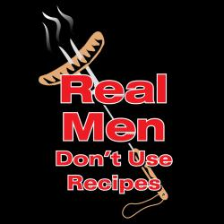 Attitude Aprons 'Real Men' Black Apron