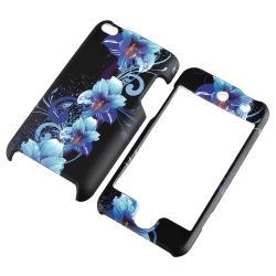 Flower Snap-on Rubber Coated Case for Apple iPod Touch Generation 4