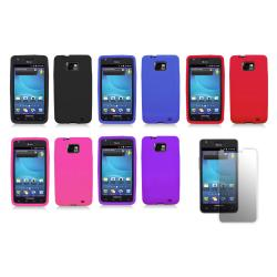 Samsung Galaxy S II SGH-i777/i9100 (AT&T) Premium Silicone Case with Screen Protector