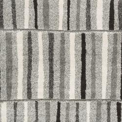 Meticulously Woven Grey Contemporary Banburr Abstract Rug (5'3 x 7'6)