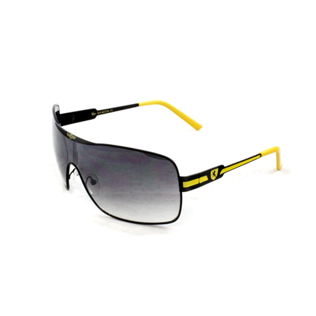 Men's Black/ Yellow Shield Sunglasses