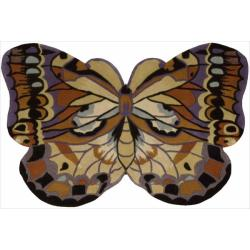 Nourison Hand Tufted Multi Butterfly Wool Rug (2' x 3')