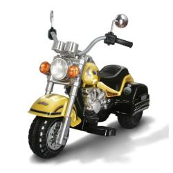 Harley-style Yellow Battery Operated Chopper Motorcycle Ride-on