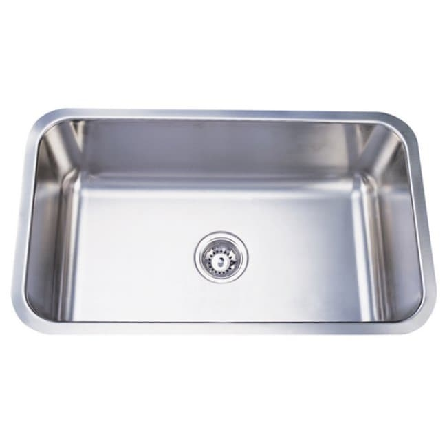 Stainless Steel 30-inch Extra Deep Kitchen Sink - 14124005 - Overstock ...