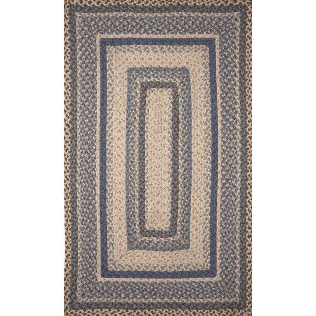 Ombre Denim Wool Rug (8' x 10')
