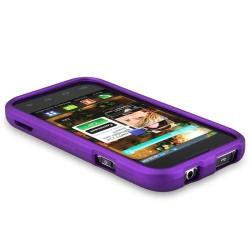 BasAcc Dark Purple Snap-on Rubber Coated Case for Samsung Fascinate