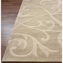 nuLOOM Handmade Pino Scroll Vines Rug (8'3 x 11')