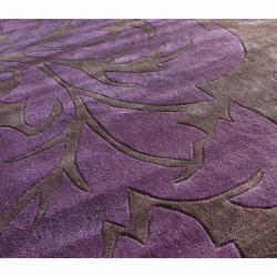 nuLOOM Handmade Pino Purple Floral Fantasy Rug (6' x 9')