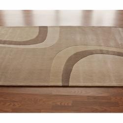 nuLOOM Handmade Pino Beige Modern Rug (6' x 9')