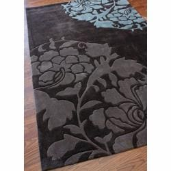 nuLOOM Handmade Pino Rose Fantasy Brown Rug (6' x 9')