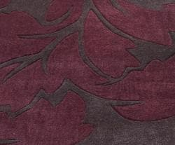nuLOOM Handmade Pino Burgundy Floral Fantasy Rug (8'3 x 11')