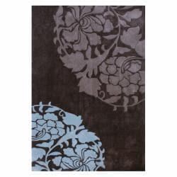 nuLOOM Handmade Pino Rose Fantasy Brown Rug (6' x 9')
