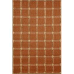 Cobblestone Indoor/ Outdoor Terracotta Rug (1'11 x 7'6)