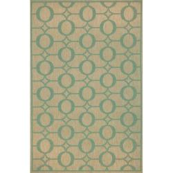 Grace Indoor/ Outdoor Aqua Rug (3'3 x 5'11)