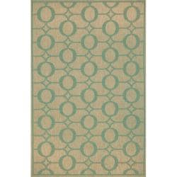 Grace Indoor/ Outdoor Aqua Rug (7'10 Square)