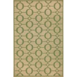 Grace Indoor/ Outdoor Green Rug (4'11 x 7'6)