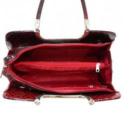 Dasein Classic Faux Leather Shoulder Bag