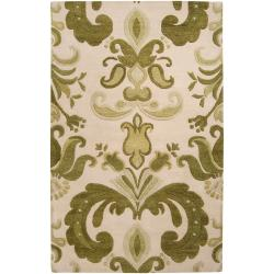 Hand-tufted Beige Kerio New Zealand Wool Rug (8' x 11')