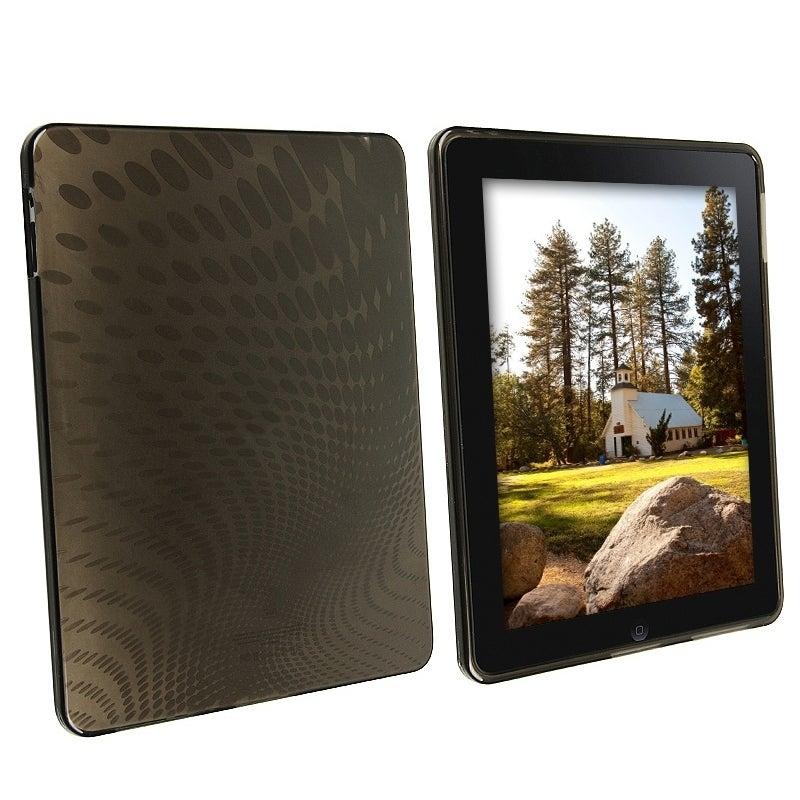 BasAcc Clear Smoke Swirl TPU Rubber Skin Case for Apple iPad 1