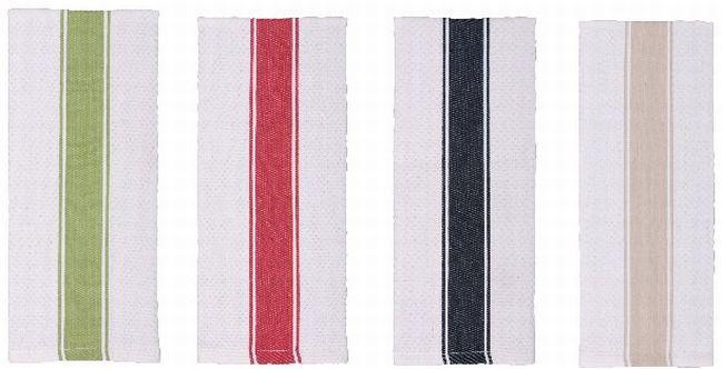 Gourmet Classics Honeycomb Banded Towels (Set of 2)