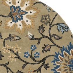 Safavieh Handmade Botanical Gardens Green Wool Rug (6' Round)
