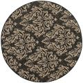 Poolside Black/ Cream Indoor Outdoor Rug (6'7 Round)