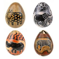 Set of 4 Animal Safari Eggs (Kenya)