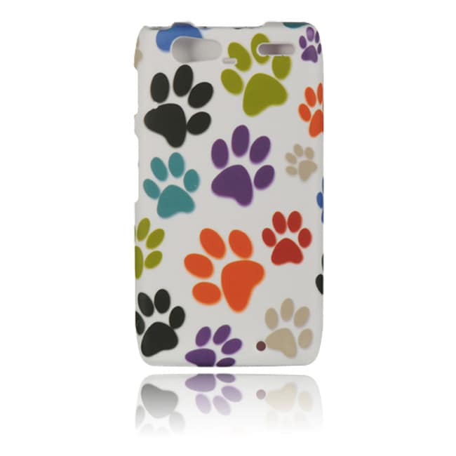 Luxmo Dog Paw Rubber Coated Case for Motorola Droid Razr Maxx/ XT912