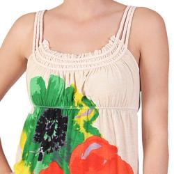 Journee Collection Junior's Braided Strap Print Sundress