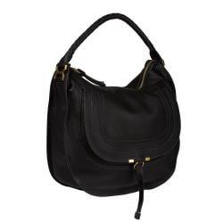 Chloe 'Marcie' Large Black Leather Hobo